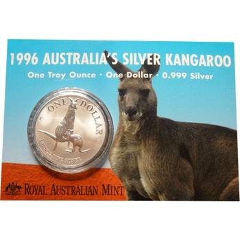 1 oz 1996 $1 Silver Kangaroo (Frosted UNC)