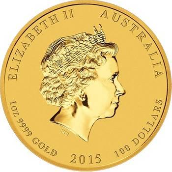1 oz 2015 Australian Lunar Year of the Goat Gold Bullion Coin