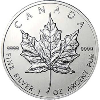 1 oz Canadian Maple Leaf Silver Bullion Coin - Mixed Dates