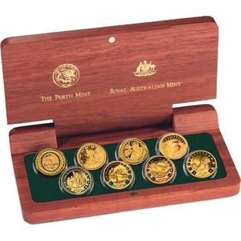 2000 Sydney Olympics Gold Proof Eight Coin Set