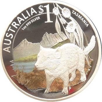 1 oz Silver 2010 Celebrate Australia - Tasmania