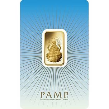 10gram PAMP Suisse Minted Gold Bullion Bar - Lakshmi (Brand New Bars)