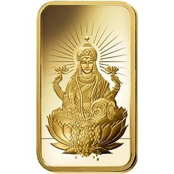 1oz PAMP Suisse Minted Gold Bullion Bar - Lakshmi