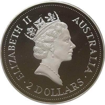 2 oz 1992 Australian Kookaburra Silver Proof Coin