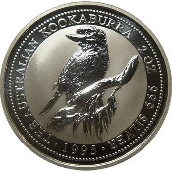 2oz 1995 Australian Kookaburra Silver Bullion Coin (Mint Condition)