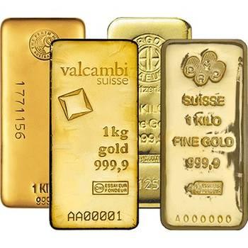 1kg LBMA Good Delivery Brand 9999 Cast Gold Bullion Bar