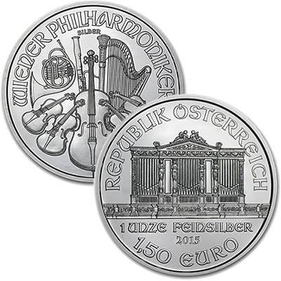 1oz  Austrian Philharmonic Silver Bullion Coin  Mint Sealed Monster Box (500oz) - Dates of KJC's Choice