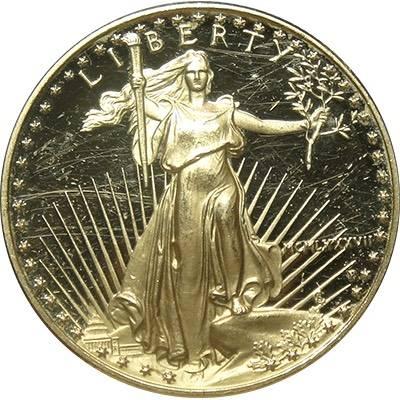 1/2oz 1987 American Eagle Gold Bullion Coin (22ct) (Ex Set) (Loose in Flip)