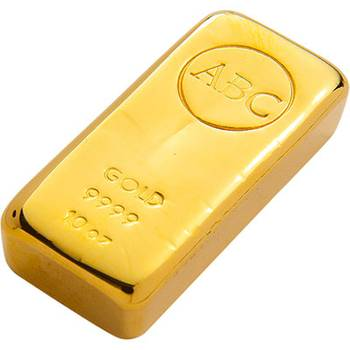 10 oz ABC Gold Bullion Cast Bar