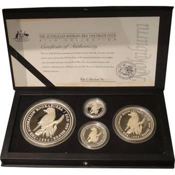 1994 Australian Kookaburra Silver Proof Four Coin Set