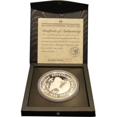 1992 10oz silver kookaburra