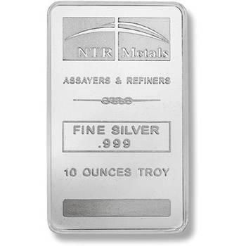 10 oz NTR Metals Minted Silver Bullion Bars