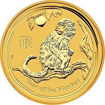 1oz 2016 Year of the Monkey Gold Bullion Coin - Series II (Brand New Coins)