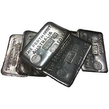 10oz Perth Mint Cast Silver Bullion Bar - Vintage
