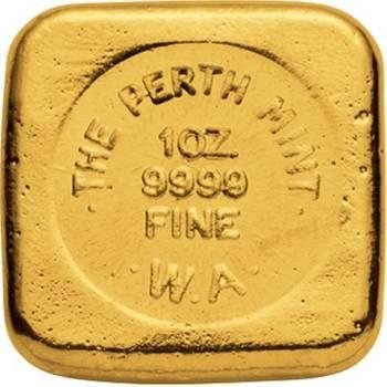 1oz Perth Mint Cast Gold Bullion Bar