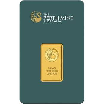20gram Perth Mint Gold Bullion Minted Bar