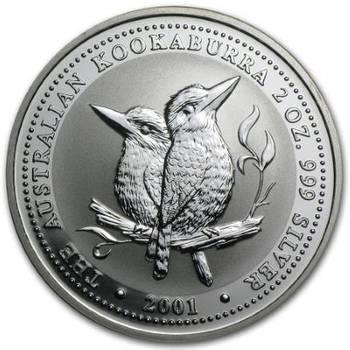 2oz 2001 Australian Kookaburra Silver Bullion Coin (Mint Condition)