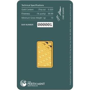 10gram Perth Mint Gold Bullion Minted Bar (Brand New Bars)