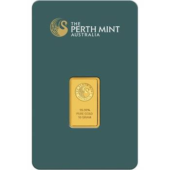10gram Perth Mint Gold Bullion Minted Bar