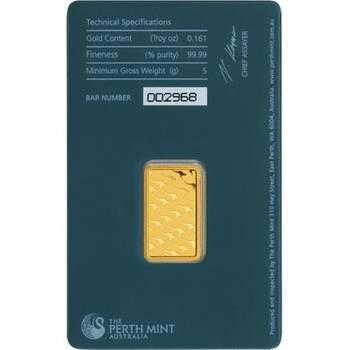5gram Perth Mint Gold Bullion Minted Bar