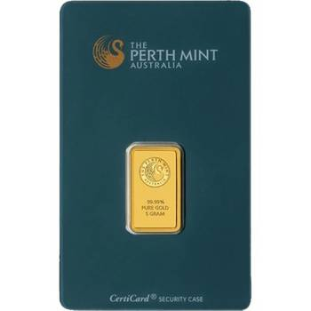 5gram Perth Mint Gold Bullion Minted Bar (Brand New Bars)