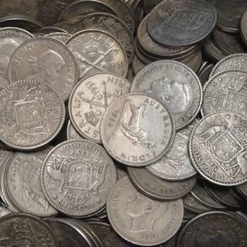 1KG Bags of Post 1946 Australian Silver Florins (50%)