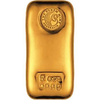 5 oz Perth Mint Gold Bullion Cast Bar