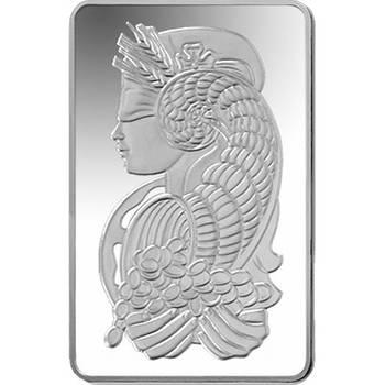10oz PAMP Suisse Minted Silver Bullion Bar