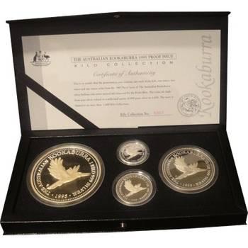 1995 Australian Silver Kookaburra Four Coin Set (Kilo, 10oz, 2oz & 1oz)