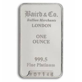 1 oz Baird & Co Platinum Bullion Minted Bar