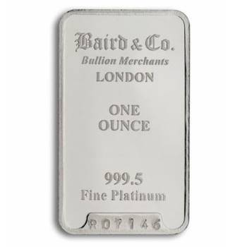1 oz Baird & Co Platinum Bullion Minted Bar