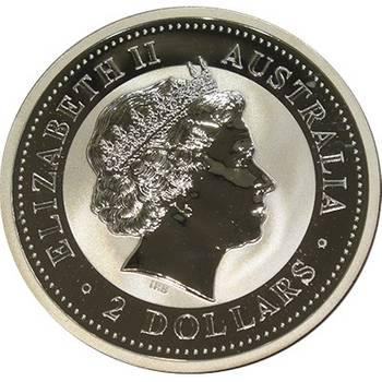 2oz 2000 Australian Kookaburra Silver Bullion Coin (Long Cross Penny Privy) (Mint Condition)