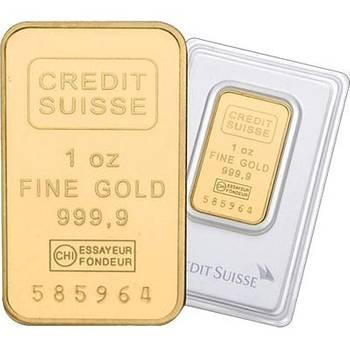1oz Credit Suisse Minted Gold Bullion Bar