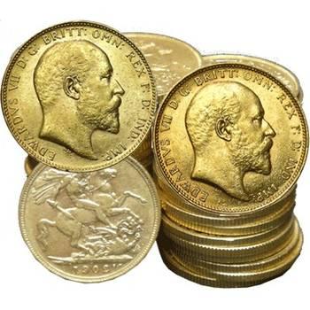 1902-1910 King Edward VII Gold Bullion Sovereigns