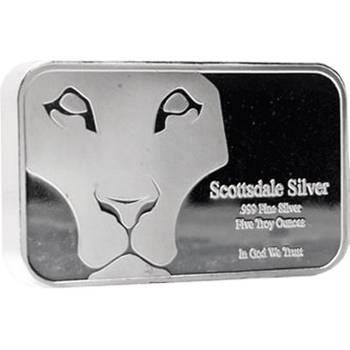 5oz Scottsdale Prey Silver Bullion Bar