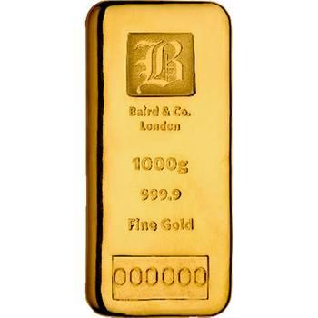 1kg Baird & Co Cast Gold Bullion Bar (Brand New Bars)