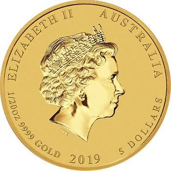 2019 Year Of The Pig 1/20 gold Bullion
