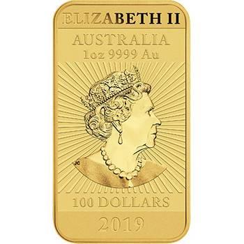 1oz 2019 Australian Rectangular Dragon Gold Bullion Coin (Brand New Coins)
