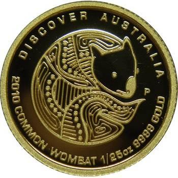 1/25oz 2010 Common Wombat Gold Bullion Coin