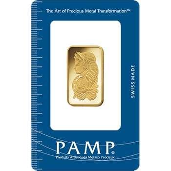 1/2 oz PAMP Suisse Gold Bullion Minted Bar