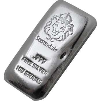 100 g Scottsdale Cast Silver Bullion Bar