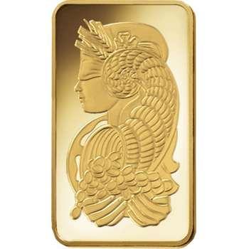 10 oz PAMP Suisse Gold Bullion Minted Bar