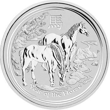 1 kg 2014 Australian Lunar Year of the Horse Silver Bullion Coin