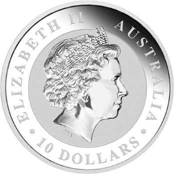 10 oz 2014 Australian Kookaburra Silver Bullion Coin (Mint Condition)