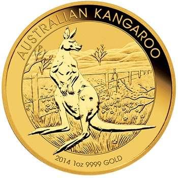 1 oz 2014  Australian Kangaroo Gold Bullion Coin