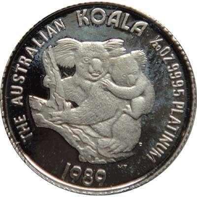 1/20 oz 1989 Australian Koala Platinum Bullion Coin