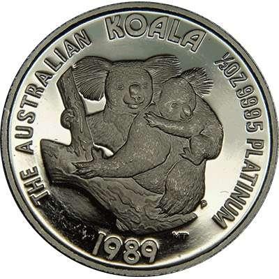 1/2 oz 1989 Australian Koala Platinum Bullion Coin