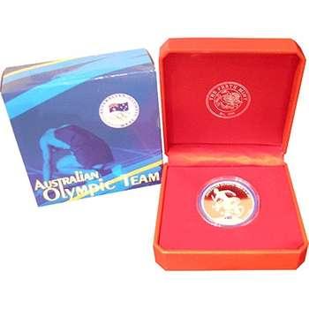 1 oz 2008 Australian Olympic Team Silver Coin