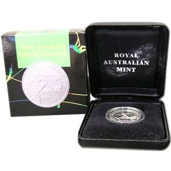 1992 XXV Barcelona Olympic Games One Dollar Silver Coin