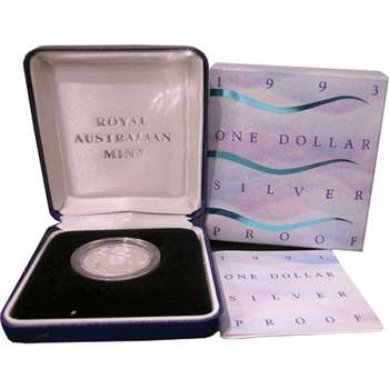 1993 Landcare Australia One Dollar Silver Proof Coin